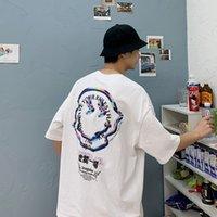 Lappster hommes Streetwear Smilewear Smile Coton T-shirts 2020 Été Mens HIP HOP HOP HOP HARAJUKU T-shirts mâles Coréen Vintage Vintage surdimensionné C0119