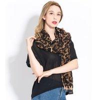 Moda Mujeres 2019 Leopardo de lujo patrón de grano invierno bufanda cálida algodón tassel largo cape chales suaves y envueltos hembra foulard yq1k