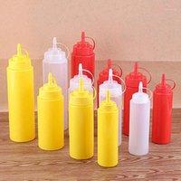 8/12/16/24oz Squeeze Bottle Plastic Ketchup Mustard Bottles Multi-size Vinegar Seasoning Accessories Olive Oil Storage Jar1