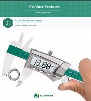Freeshipping العرض الرقمي الفولاذ المقاوم للصدأ الفرجار 0-150mm 1/64 الكسر / مم / بوصة lcd الالكترونية vernier الفرجار IP54 للماء