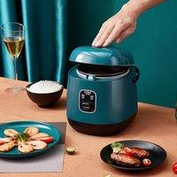طاولات الأرز 220 فولت البسيطة متعددة الوظائف آلة الطبخ الكهربائية واحدة / مزدوجة الطبقة المتاحة وعاء متعدد طباخ غير عصا عموم