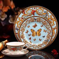 Leefine роскошный костный фарфоровый посуда набор 4 шт. Керамическая посуда набор блюда и тарелки чашки и блюдца комплект креативные подарки Z1123