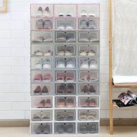 6 adet / takım Çekmece Ayakkabı Kutusu Şeffaf Ayakkabı Depolama Organizatör Ayakkabı Temizle Plastik Organizatör AJ Basketbol Ayakkabı Ekran Duvar C0116