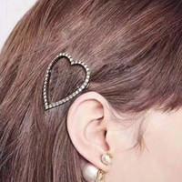 Nuevo Llegada Mujeres Carta Carta Cabello Bling Bling Cristal Letra Barrettes Moda Accesorios para el cabello 2 estilos