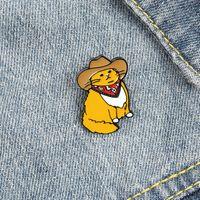 Broches d'émail mignon Pin pour femme fille Mode Bijoux Accessoires Métal Vintage Broches Badge Badge Badge En gros Cadeau chapeau chat