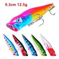 6-Color 9.3 cm 12.5g Popper Sert Plastik Lures Balıkçılık Kanca Fishhooks 4 # Kanca Yapay Balıkçılık Yemleri Pesca Aksesuarları Mücadele LUO_178