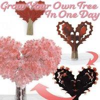 Dekoracyjne kwiaty Wieńce Desktop Wiśnia Magiczne Narastające Drzewne Papier Sakura Kryształowe Drzewa Blossom Zabawki DC1561