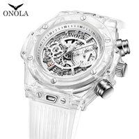 Unisex transfronteiriço relógio transparente plástico shell esportes casual relógio moda pessoal influenciador relógio relógios de pulso