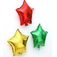 Свадебное украшение фольга гелиевая вечеринка 25см звезды воздушные шары на день рождения металлическая свадьба годовщина