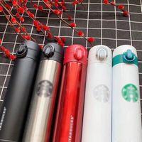 Tasse de café tasse de tasse 400ml Starbucks bouteilles gobelets sous vide BOULON Thermos acier inoxydable bouteille d'eau double mur isolé voitures de bière gobelets cadeaux