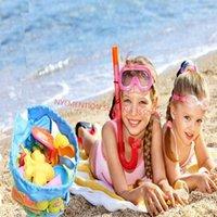 50 قطع الاطفال شبكة شاطئ حقيبة الرمال حقيبة شل حقيبة اللعب مجموعة الأطفال هدايا يوم 1