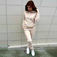 ellesse Hoodies e calças dos patchwork das mulheres das mulheres com moletom do inverno do outono de outono manga longa listrada Tops novos Bestox42a