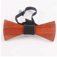Düğün özel ahşap beyefendi el yapımı moda batı parti yay bağları kelebek adam için ahşap benzersiz kravat