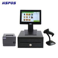 HSPOS 최신 12 인치 모두 하나의 POS 현금 등록 무료 안드로이드 POS 시스템 RK3288 2GB / 8G