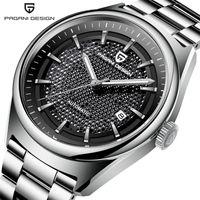 Pagani Design Роскошные механические часы Мужчины Мода Бизнес Нержавеющая сталь Автоматическая дата Часы Relogio Masculino PD 1637