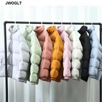 8 Cores Homens Harajuku Outwear Colorido Bubble Casaco Jaqueta de Inverno Mens Coréia Zipper Parkas Preto Rosa Buffer Jackets 4xl 5xl