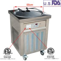 Equipo comercial ETL CE Equipo de procesamiento de alimentos solo 55 cm Pan cuadrado Thai Fried Yogurt Roll Máquina de helado