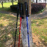 Polos de trekking plegables, ligeros ultra fuerte aluminio 6061 palitos para caminar y caminar
