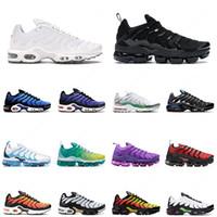 نايك الجوية ماكس tn plus الرجال النساء احذية الجري الثلاثي الأبيض الأسود الأرجواني هايبر الأزرق des chaussures رجل مدرب أحذية رياضية
