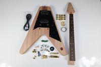 1 takım Elektro Gitar Kiti 22 Gitar Boyun Gitar Vücut Maun Gülağacı V Şekil