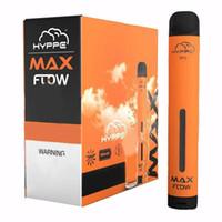 Новая гиппе Max Flow 2000 Puffs Одноразовые Vape Reflow Регулируемая электронная сигарета 900 мАч 6,0 мл Одноразовое устройство 10 цветов