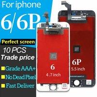 10 adet / grup iPhone 6 6 Artı LCD Ekran Dokunmatik Ekran Tam Montaj Tümü 100% Ile 3D Kuvvet Ile Dokunmatik Ekran Değiştirme iPhone 6 6 P