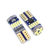 무료 배송 Edislight Canbus W5W LED T10 4014 15SMD 자동차 전구 194 인테리어 라이센스 플레이트 조명 트렁크 램프 클리어런스 조명 읽기 돔