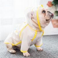 Pug Vêtements Français Bulldog Vêtements Dog Raincoat Vêtements imperméables Veste de pluie Vêtements de pluie Schnauzer Costume de chien Costume de pluie Drop showship LJ200923