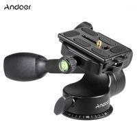 Andoer Q08 Video Tripod Ball Head 3-Way Fluid Head Rocker para DSLR Camera Tripod Monopod Recorder para 5 6 Samsung Huawei1