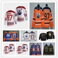 2021 Reverse Retro Edmonton Oilers 저지 Connor McDavid Leon Draisaitl Tyson Barrie Darnell 간호사 뉴저트 - 홉킨스 제시 Puljujarvi Kailer Yamamoto Alex Chiasson