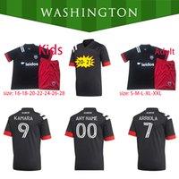 2020 DC United Fans versión Soccer Jersey 20 21 Hombres # 9 Kamara Gressel Uniform Washington # 10 Flores Arriola Fans Camisetas de fútbol