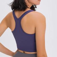 Chaleco de yoga con sujetador de sujetador camis corriendo fitness gimnasio ropa mujer ropa interior deportes acolchado recorte tops camisa