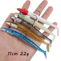 1 ADET 5 Renk 11 cm 22g Jigs Tek Kanca Balıkçılık Kanca Yumuşak Yemler Lures Pesca Olta Takımı Toptan_05
