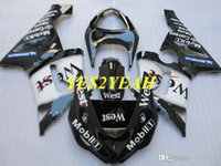Kit de carenado de molde de inyección para Kawasaki Ninja ZX6R 05 06 ZX 6R 636 2005 2006 West White Black Blackwork KK04