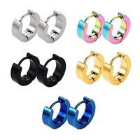 STUD 1 Set Forma redonda Piercing de acero inoxidable Piercing Unisex Pendiente Punk Gothic Barbell para joyería masculina Pendientes de moda Hip Hop1