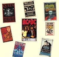 Banda ACDC Venda Pub Música Pintura Sinal Placas de Estanho Retrol Pessoas Poster Hot Poster Bar Restaurante Decoração Art Rock Metal Home Jllvl Yummy_Shop