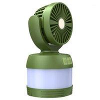 Портативные фонарики Enkeeo SB-6068 Multifunction Camping Lantern с мини вентилятором можно использовать в качестве энергобанка для наружного мероприятия1