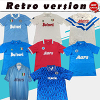 Retro Napoli 1986 1987 1988 1990 1990 1993 Maradona Jersey Fussball Jersey Startseite Away Napoli Collection Football Shirt Auf Lager