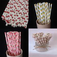 Dessin animé Papier Papier Jetable Papier Kraft Ananas Protection de l'Environnement Straw Boissons Partie Décorer des fraises de haute qualité 04ys m2