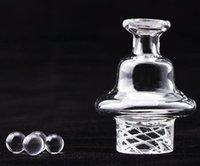 NOUVEAU Spinning Directionnel Capuchon en verre Bubble Bubble Clapeau Casquette d'environ 26.5mm OD avec trou d'air pour 25mm Quartz Banger DAB Huile Huile Fy2412