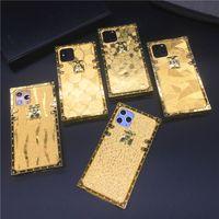 Luxury Square Gold Blitter Case для iPhone X XR XS MAX 6 6S 7 8 Plus TPU Мягкая силиконовая крышка телефона для iPhone 11 Pro Max