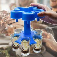 5 Schuss Glas Spender Halter Füllungsflüssigkeiten Schüsse Dispenser Tragbare Party mit trinkenden Spielen Weingläser Dispenser DDA838