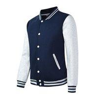 DIY 야구 재킷 남자 2020 새로운 패션 디자인 슬림 피트 대학 Varsity Coat 여성 재킷 지원 사용자 정의 인쇄 사진 / 텍스트