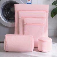 أكياس الغسيل 1 قطع الوردي حقيبة الملابس الداخلية الجوارب الملابس الصدرية غسل التطريز المصنفة الحقيبة التنظيف المنزلية