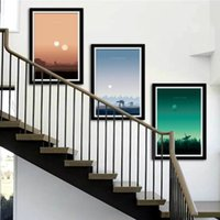 3 Panels Classic Movie Poster Prints Sunset Landscape Canvas...