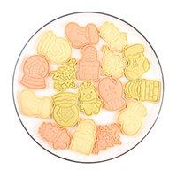 Tema de Navidad DIY Bizcocho para hornear galletas Galletas de hielo Azúcar plástico Press Tipo Molde Conjunto 3D Moldes Suministros de Cocina 7 8RL F2