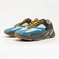 Kanye West 700V1 Teal Blue Blue для мужских 700V2 Kanywest кроссовки мужские спортивные туфли женщин беговые туристические мужские тренажеры FW2499