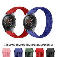 Geflochtenes Uhrband für Samsung Galaxy Active Watch Nylon Elastische Riemen für Huawei GT 2 Pro 20mm 22mm
