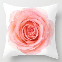 New Pink Roses Feathers Geometric Cushion Cover Modern Fashion Nordic Simple Pillowcase Decorative Sofa Seat Throw Pillows Cover