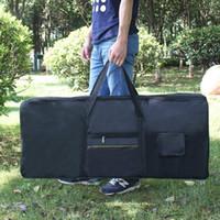 المحمولة 61-Key مفتاح لوحة المفاتيح الإلكترونية الكهربائية البيانو مبطن حالة أزعج حقيبة المتقدمة النسيج الكتف حقيبة الظهر الأسود